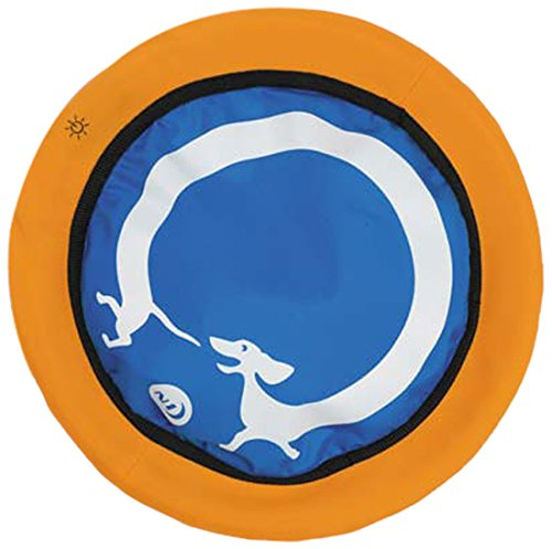 Nite Ize Nite Dawg LED Soft Flying Disc - 8-Inch - Red LED - Blue Dachshund Design (NDD2-M1-R3)