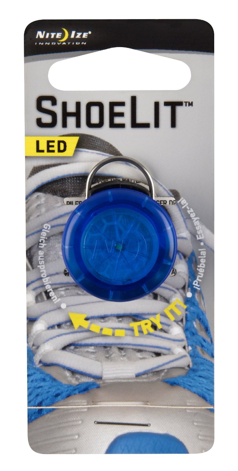 Nite Ize NST ShoeLit LED Shoe Light - White LED - Includes 1 x CR927 - Blue, Green, Pink or Red