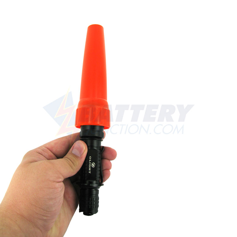 Olight Traffic Wand Orange - Fits the Olight M20, M21, and M30 Flashlights